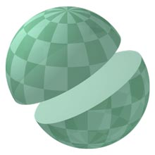 Sphere cut in half