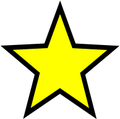 Black and yellow star clip art