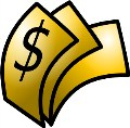 Dollar bills clip art
