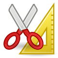 Scissors and ruler clip art