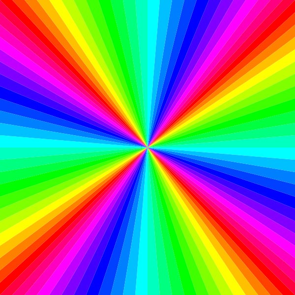 This kaleidoscope of colors is made up of a large number of different ...: www.kidsmathgamesonline.com/pictures/illusions/kaleidoscopeofcolors...