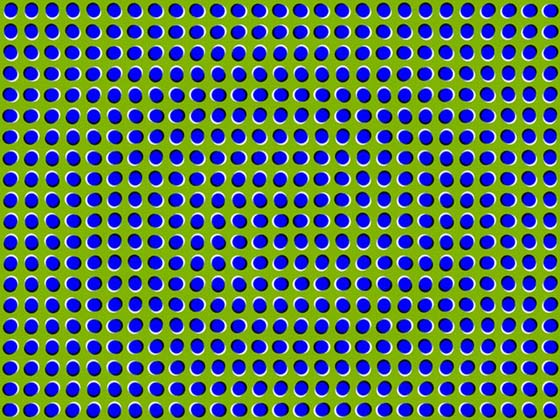 If you suffer from motion sickness then you might want to look away from this optical illusion that makes use of a technique called peripheral drift before it makes you feel queasy.