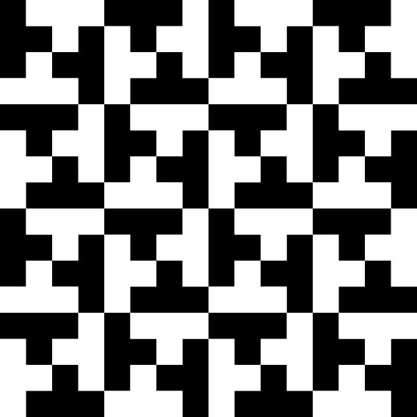 Do you see a range of black tetris blocks on a white background or a range of white tetris blocks on a black background in this optical illusion?