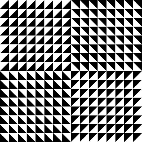Look at this optical illusion picture and you can find shapes such as ...