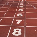 Athletics Track Lane Numbers Picture