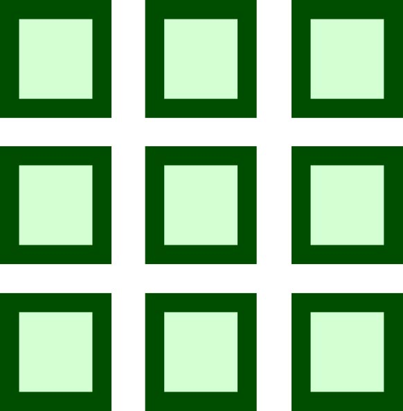 This picture shows a math grid featuring 9 individual squares arranged ...