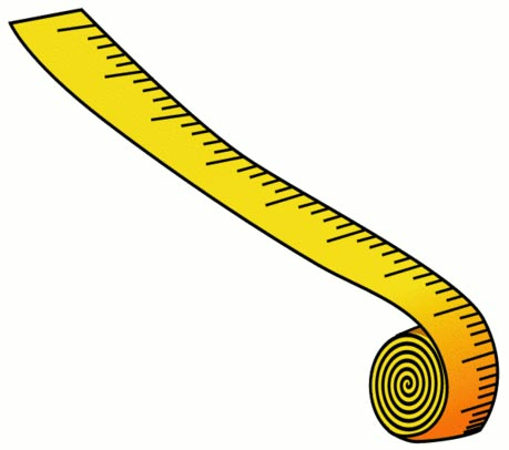 This picture features a cartoon like drawing of a length of measuring ...
