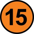 Number 15 - Free Picture of the Number Fifteen