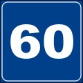 Number 60 - Free Picture of the Number Sixty