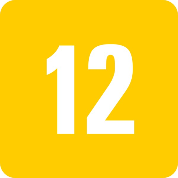 To save this free picture of the number twelve simply right click on
