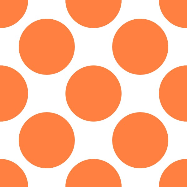 This picture features a funky dot grid pattern with large circles placed close to each other on a white background.