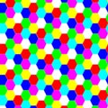 Colorful Hexagonal Pattern Picture
