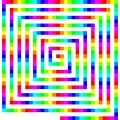 Square Color Spiral - Pictures of Geometric Patterns & Designs