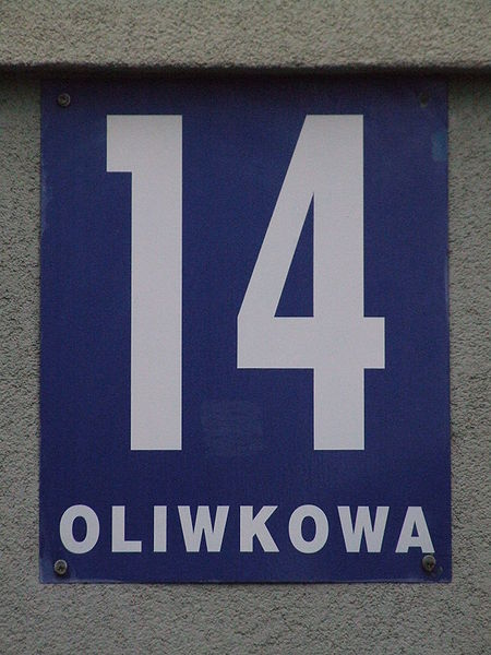 This photo shows the number 14 written in white.