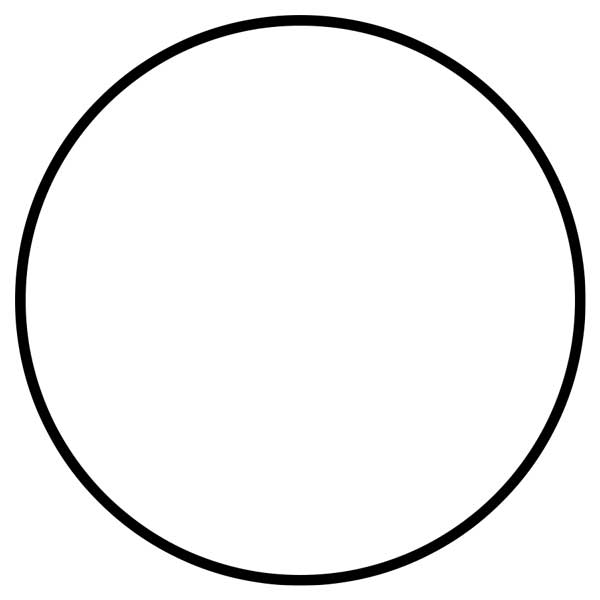 This picture features a circle. A circle is a round, 2D shape that looks like the letter 'O'.