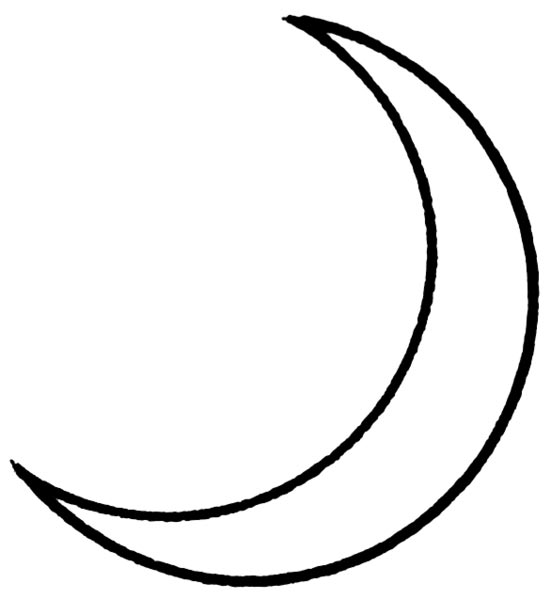 This picture features a crescent. A general crescent shape can be formed by removing a circle shaped segment from the edge of a larger circle. In astronomy, the moon forms a crescent shape when it appears to be less than half illuminated by the sun.
