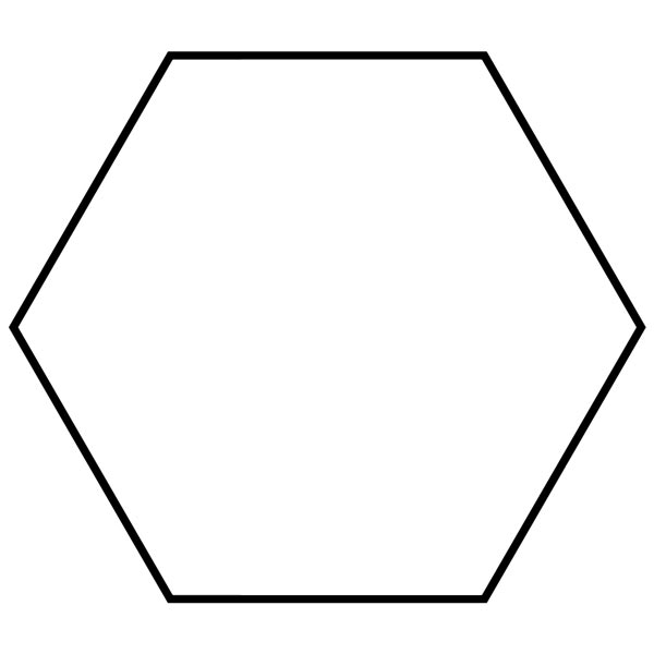 This picture features a hexagon. A hexagon is a polygon with 6 sides and 6 interior angles which add to 720 degrees.