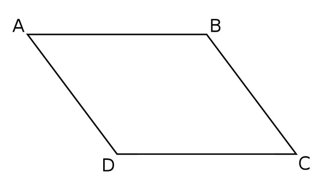 This picture features a parallelogram. A parallelogram is a quadrilateral with 2 pairs of parallel sides.