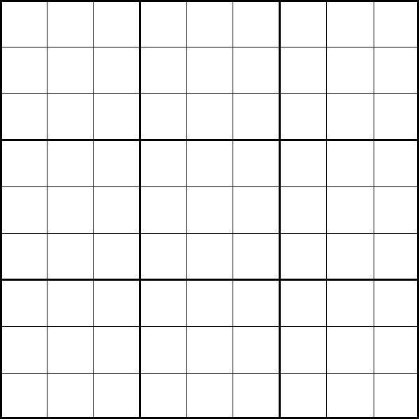 photograph relating to Blank Sudoku Grid Printable known as Printable 9x9 Sudoku Puzzle Template