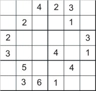 Easy Printable Sudoku Puzzle Number 6