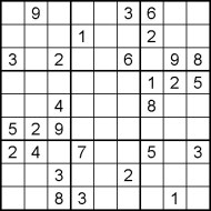 Hard Printable Sudoku Puzzle Number 1