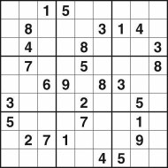 Hard Printable Sudoku Puzzle Number 3