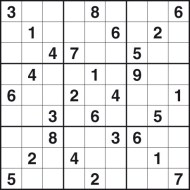 Hard Printable Sudoku Puzzle Number 4