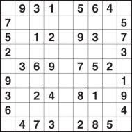 photograph relating to Medium Sudoku Printable referred to as Medium Difficulties Sudoku Puzzles for Little ones - No cost Printable