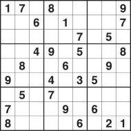 Medium Printable Sudoku Puzzle Number 6