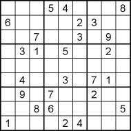 Medium Printable Sudoku Puzzle Number 7